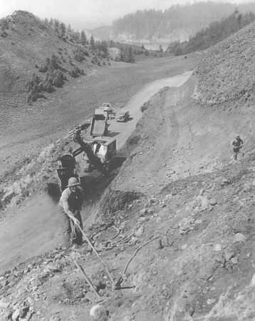 Workers building the coast highway in the 1930s could look over their shoulders into Smugglers Cove and Short Sand Beach.