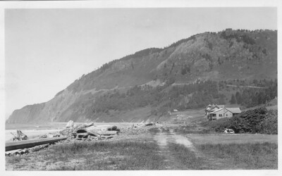 From the south, Neahkahnie Mountain in the 1930s looked almost bare.