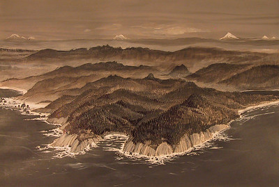 Oswald West State Park from the air as imagined by local artist Don Osborne.